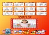 Calendário Mickey e Animais Disney Baby 2019
