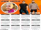 Calendário do Jorge e Mateus 2020 Moldura