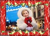Sininhos de Natal Moldura