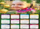 Calendário Bolas Natalinas Douradas 2020