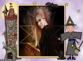 Halloween Colagem de Foto Bruxa
