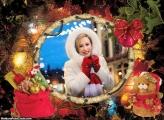 Saco de Presente no Natal Moldura