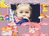 Coelhinho Baby Mamadeira Moldura