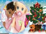 No Pé da Árvore de Natal FotoMoldura