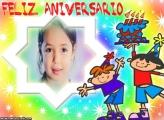 Feliz Aniversário Crianças Moldura
