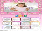 Calendário Baby 2019 Moldura
