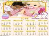 Calendário Unicórnio Infantil 2018