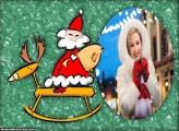 Papai Noel e Rena Cute Moldura