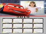 Calendário Relâmpago McQueen 2019