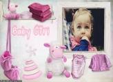 Baby Girl Moldura para Meninas