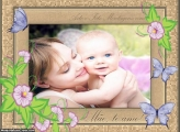Quadro Foto Montagem Mãe Te Amo