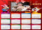 Calendário Mickey e Minnie 2021