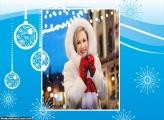 Clima de Natal Azul Moldura