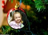 Moldura Bola da Árvore Natalina