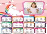 Calendário Unicórnio Candy Color 2019