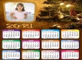 Calendário Árvore de Natal Dourada 2019