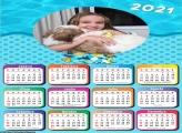 Calendário Infantil Tema Praia 2021
