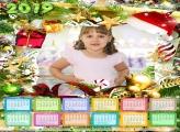 Calendário Chapéu Noel e Enfeites 2019