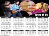 Calendário Jorge e Matheus 2020