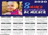 Calendário 8 de Março 2020