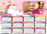 Calendário Unicórnio Candy Color 2020