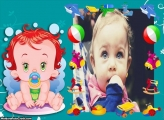 Bebê Ruiva Moldura