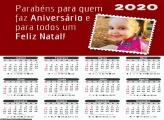 Calendário Parabéns e Feliz Natal 2020