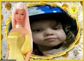 FotoMoldura Barbie Loira Amarelo