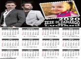 Calendário Zezé Di Camargo e Luciano 2020