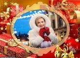 Presente do Papai Noel Foto Moldura
