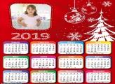 Calendário Desenho da Árvore Natalina 2019
