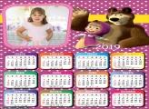 Calendário da Masha e o Urso 2019 Moldura