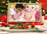 Prato de Natal FotoMoldura