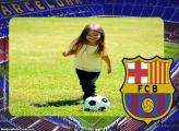 Barcelona Time Futebol Moldura