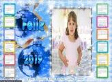 Calendário Moldura Feliz 2019