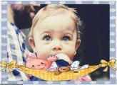 Bebê na Rede Moldura