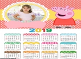 Calendário da Peppa 2019 Moldura