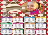 Calendário Macaquinho Infantil 2020