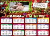 Calendário Feliz Natal com Mensagem 2021
