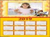 Calendário Pintor Desenho 2019 Moldura