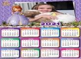 Calendário Sofia Princesa da Disney 2021
