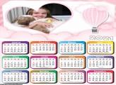 Calendário Balão de Ar Rosa 2021