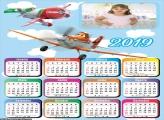 Calendário Infantil Aviões 2019