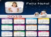 Calendário Pai e Filho Boneco de Neve 2019