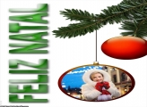 Feliz Natal Bola Natalina Moldura