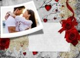 Convite Love Roses Foto Moldura