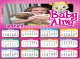 Calendário Baby Alive 2021