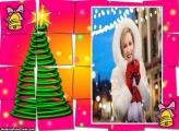 Árvore de Natal Quebra Cabeça Moldura