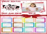 Calendário Feliz Natal Mickey e Minnie 2019