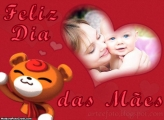 Feliz Dia das Mães Infantil Moldura